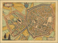 Other French Cities and Nord et Nord-Est Map By Georg Braun  &  Frans Hogenberg