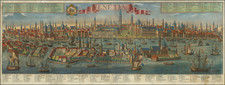 Venice Map By Georg Balthasar Probst