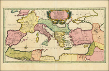 Europe, Italy and Mediterranean Map By Covens & Mortier