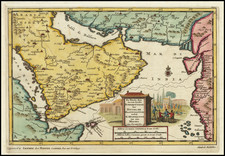 Middle East and Arabian Peninsula Map By Pieter van der Aa