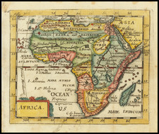 Africa and East Africa Map By Pierre Du Val