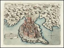 Serbia & Montenegro Map By Giovanni Francesco Camocio