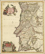 Portugal Map By Frederick De Wit