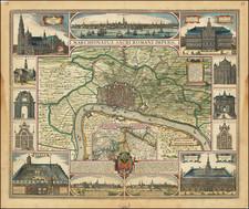 Belgium Map By Claes Janszoon Visscher