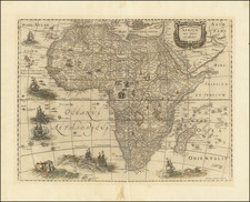 Africa Map By Henricus Hondius / Jan Jansson