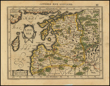 Baltic Countries Map By Gerhard Mercator