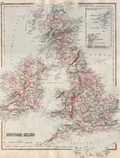 Europe and British Isles Map By Frank A. Gray