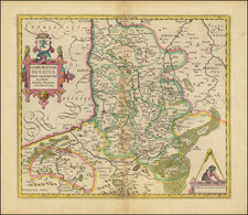 Netherlands Map By Henricus Hondius