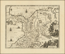 Central America and Colombia Map By John Ogilby