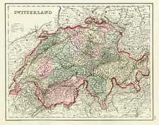 Europe and Switzerland Map By O.W. Gray