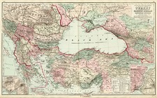 Europe, Balkans, Greece, Turkey, Asia and Turkey & Asia Minor Map By O.W. Gray