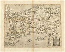 Turkey, Cyprus, Holy Land, Turkey & Asia Minor and Greece Map By Giacomo Gastaldi / Paolo Forlani