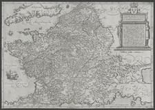 France Map By Frans Hogenberg