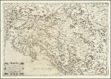 Croatia & Slovenia, Bosnia & Herzegovina and Northern Italy Map By Ferrando Bertelli