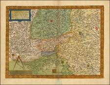 Switzerland, Austria and Süddeutschland Map By Gerard de Jode