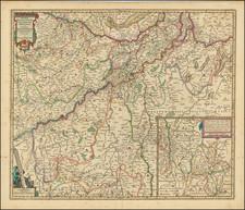 Netherlands and Mitteldeutschland Map By Claes Janszoon Visscher