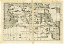 Egypt and North Africa Map By Francesco Berlinghieri