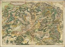 Nord et Nord-Est Map By Gerard de Jode