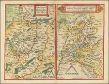 Switzerland, Northern Italy, Sud et Alpes Française and Nord et Nord-Est Map By Gerard de Jode