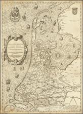 Netherlands Map By Michael Tramezini