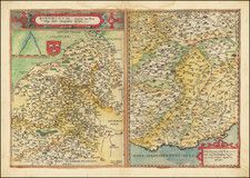 France, Northern Italy and Centre et Pays de la Loire Map By Gerard de Jode
