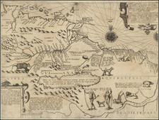 South America, Guianas & Suriname and Venezuela Map By Theodor De Bry