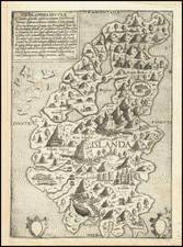 Iceland Map By Giovanni Francesco Camocio