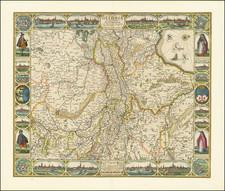 Netherlands Map By Claes Janszoon Visscher