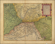 Centre et Pays de la Loire Map By Gerard de Jode