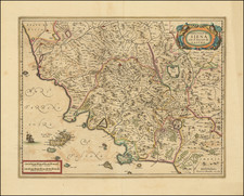 Northern Italy Map By Henricus Hondius