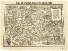 (France, Germany, Low Countries, Switzerland & English Channel)  Gallia oder Franckrych / Die Landtafel des dritten Buchs By Johann Stumpf