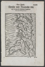 Southern Italy Map By Sebastian Munster