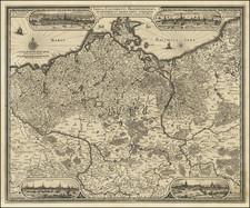 Poland and Norddeutschland Map By Claes Janszoon Visscher