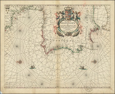 Spain and Portugal Map By Johannes van Loon