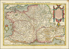France Map By Francois De Belleforest