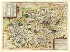 France and Centre et Pays de la Loire Map By Gerard de Jode