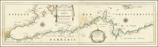 Spain, North Africa and Balearic Islands Map By Pierre Du Val