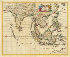 India, Southeast Asia, Philippines, Indonesia and Thailand, Cambodia, Vietnam Map By Frederick De Wit