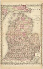 Michigan Map By G.W.  & C.B. Colton