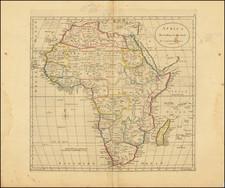 Africa Map By Mathew Carey