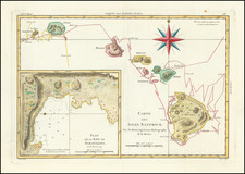 Carte Des Isles Sandwich . . .  By Rigobert Bonne