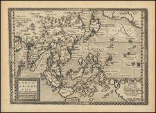 China, Japan, India, Southeast Asia, Philippines, Indonesia, Malaysia, Pacific, Australia and California Map By Johann Bussemachaer