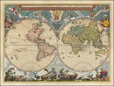 World and World Map By Johannes Blaeu