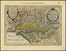 Delaware, Southeast and Virginia Map By Jan Jansson / Pieter van den Keere