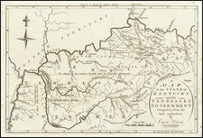 South, Kentucky and Tennessee Map By Jedidiah Morse