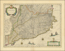 Catalonia Map By Willem Janszoon Blaeu