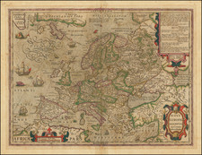 Europe Map By Jodocus Hondius