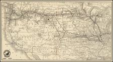 United States, North Dakota, South Dakota, Idaho, Montana, Wyoming, Oregon and Washington Map By McGill-Warner Co.
