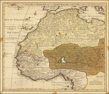 North Africa and West Africa Map By Guillaume De L'Isle