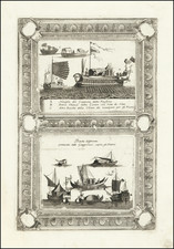 China, Japan and Curiosities Map By Vincenzo Maria Coronelli